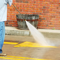 Pressure Washing a Parking Lot