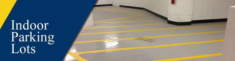 Indoor Parking Lot Maintenance and Striping